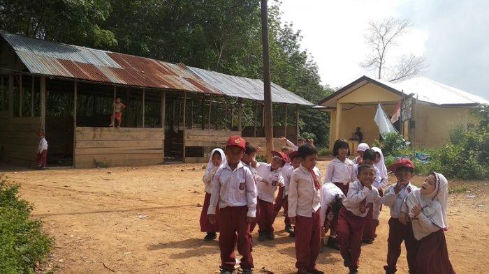 Bangunan Sekolah di Padangbolak Ini Mirip Kandang Ternak, Murid 3 Kelas Belajar Seruangan