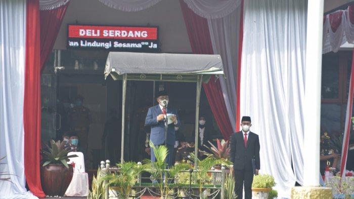 Wabup Deli Serdang HM Ali Yusuf Siregar Pimpin Upacara Harkitnas ke-113
