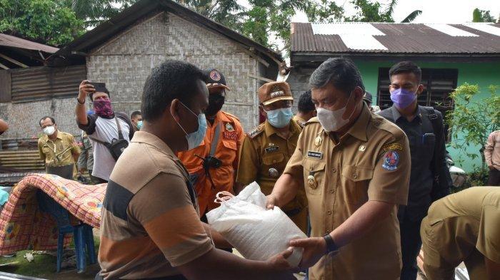Wabup Ali Yusuf Siregar Tinjau Korban Puting Beliung di Kecamatan Bangun Purba