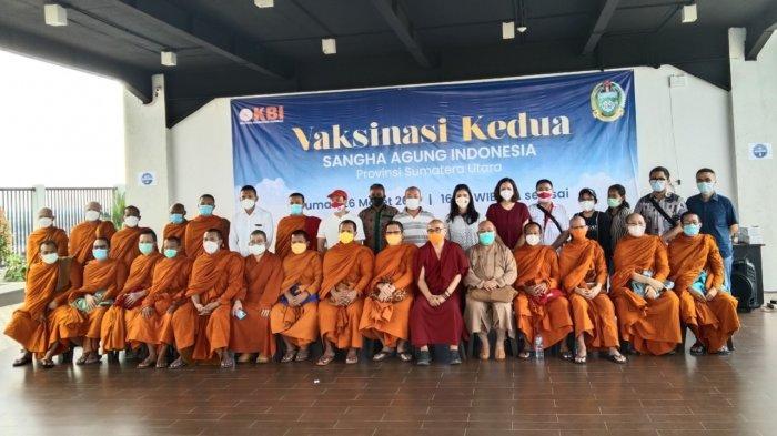 Anggota Sangha Agung Indonesia se-Sumut Laksanakan Vaksinasi Tahap Kedua