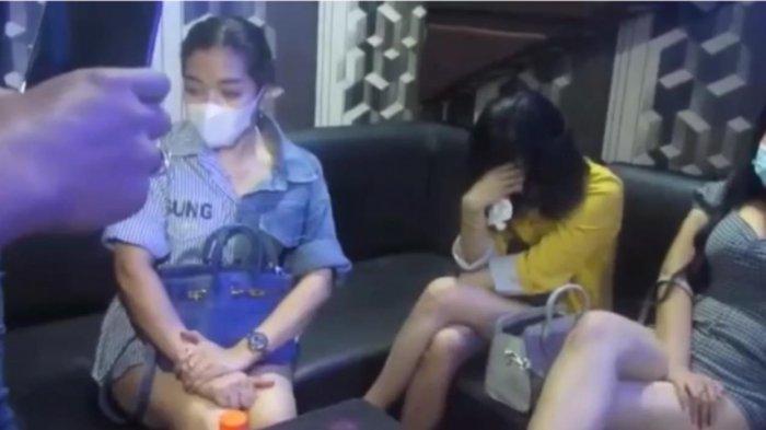 Sejumlah pengunjung terjaring razia yang dilakukan Petugas Polrestabes Medan