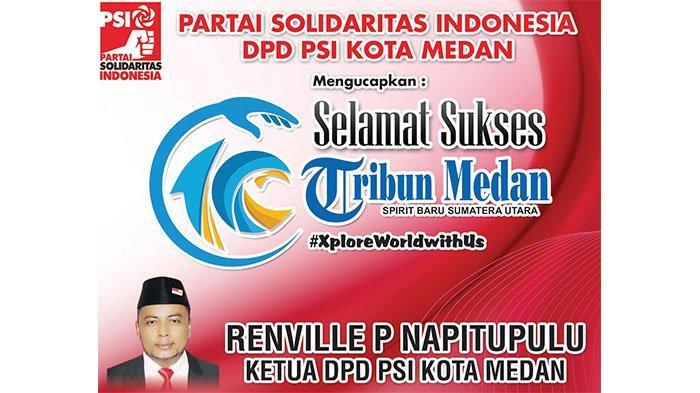 Selamat Ulang Tahun ke-10 Tribun Medan dari DPD PSI Kota Medan