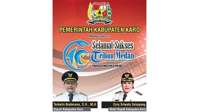 Selamat Ulang Tahun ke-10 Tribun Medan dari Pemerintah Kabupaten Karo