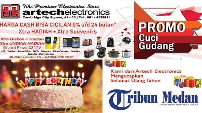 Selamat Ulang Tahun ke-9 Tribun Medan dari Keluarga Besar Artech Electronics