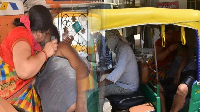 India Darurat Covid-19, Seorang Istri yang Putus Asa Beri Napas Buatan ke Suaminya yang Sekarat