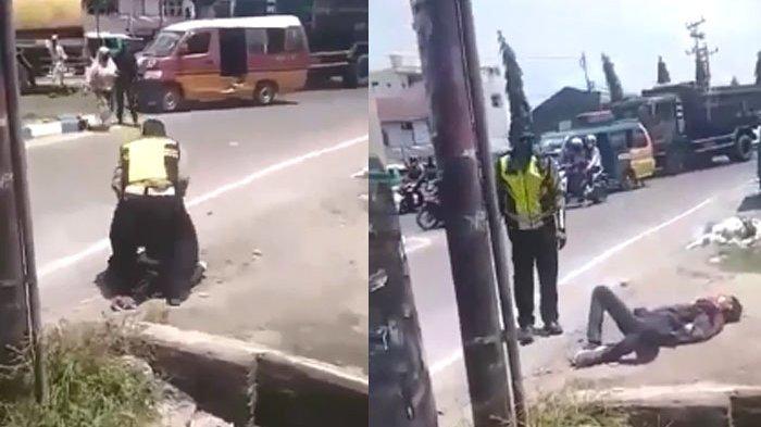Video Detik-detik Polisi di Deliserdang Hajar Warga di Tengah Jalan hingga Babak Belur