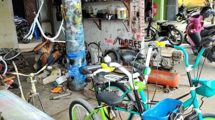 Reparasi Barang Bekas Jadi Sepeda Minion, Pria Asal Kota Kisaran Ini Raih Omset Puluhan Juta Sebulan