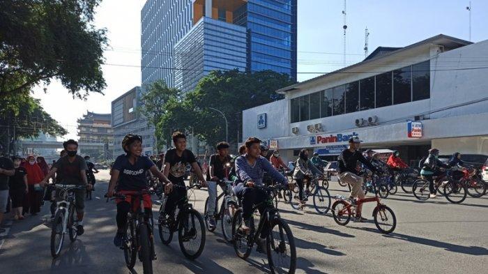 Ratusan Pesepeda Padati Seputaran Balai Kota Medan, Akui Badan Terasa Ringan dan Stamina Bertambah