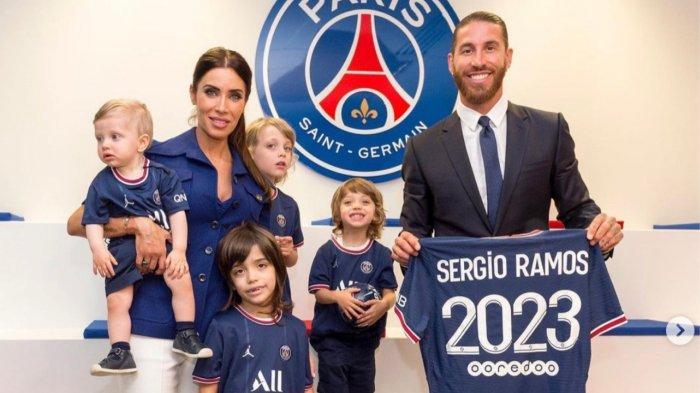 Belum Seminggu Gabung Paris Saint-Germain, Sergio Ramos & Istri Dapat Kado Indah dari Kota Paris