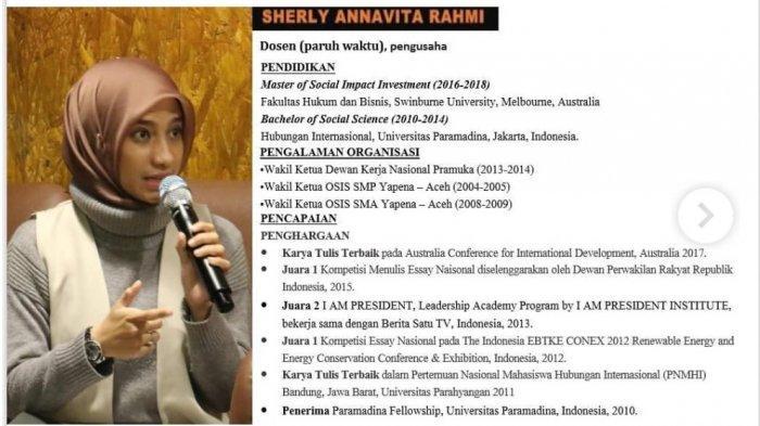 Sosok Sherly Annavita, Viral saat Hadir di ILC, Sebut Jokowi Gagal sebagai Gubernur dan Presiden