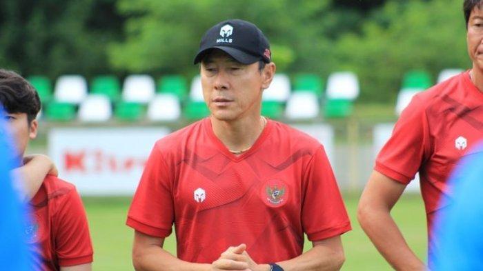 Pelatih sekaligus manajer timnas Indonesia, Shin Tae-yong.