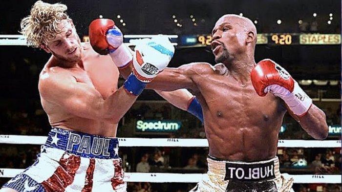 SIARAN LANGSUNG Link Live Streaming Floyd Mayweather vs Logan Paul, Link Live Tinju 7 Juni 2021