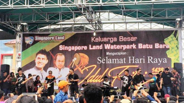 Singaporeland Waterpark Batubara Kedatangan Judika