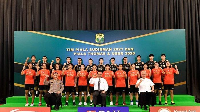 Skuat bulu tangkis Indonesia yang akan berlaga pada Piala Sudirman 2021 dan Thomas-Uber Cup 2020