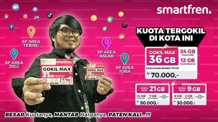 Pakai Smartfren GOKIL MAX Terbaru, Nikmati Harga Paling Gokil dan Kuota Data Terbesar di Sumut