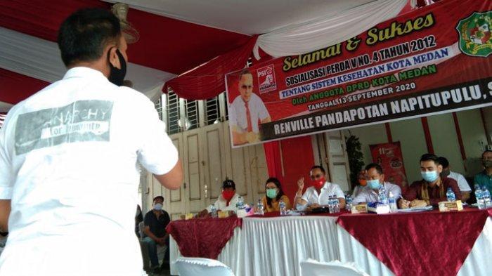 Anggota DPRD Renville Napitupulu Adakan Sosper, Banyak Warga Keluhkan Kinerja Kepling di Medan