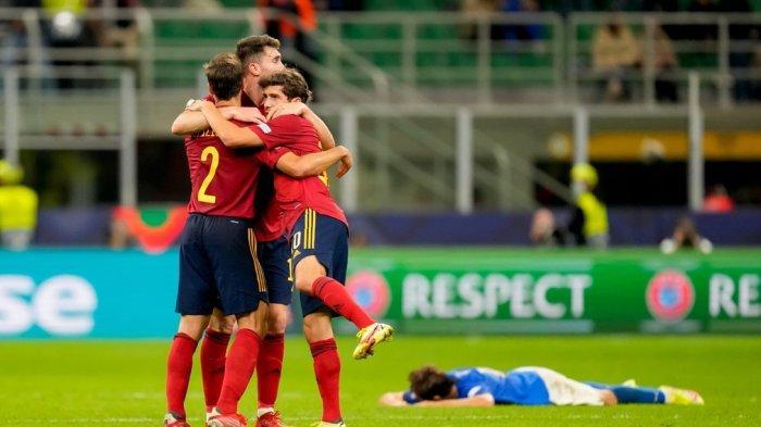 Spanyol sukses ke Final UEFA Nations League usai tumbangkan Italia dengan skor 2-1, Kamis (7/10/2021) dini hari tadi