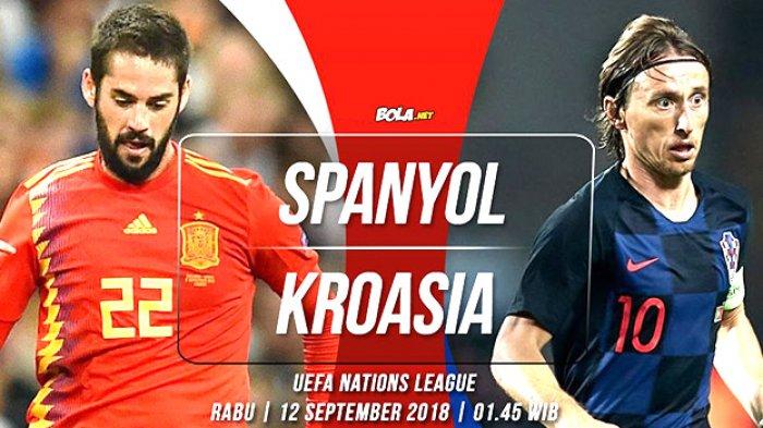 LIVE STREAMING - Spanyol vs Kroasia Malam Ini Pukul 01.45 WIB, Pembuktian Luka Modric