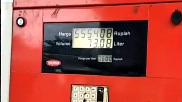 Heboh SPBU Curang, Kapasitas Tangki BBM hanya 60 Liter, Tagihan Sampai 78 Liter, Ini Videonya