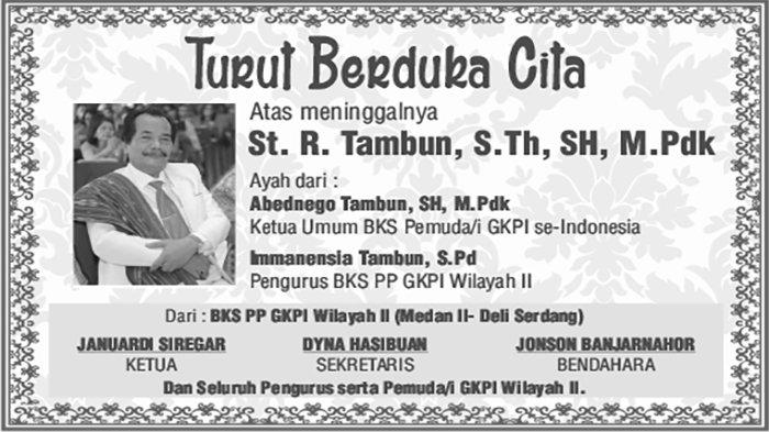 BERITA DUKACITA: Telah Berpulang ke Rumah Bapa di Surga St R Tambun