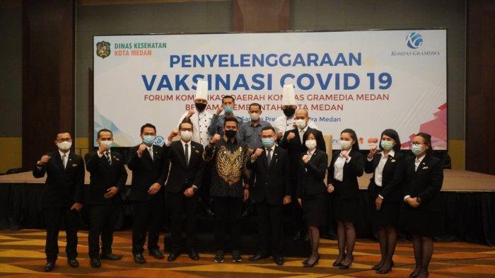 Optimalisasi Pelayanan Masa Pandemi, Hotel Santika Premiere Medan Lakukan Vaksinasi Karyawan