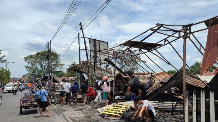 Penyebab Kebakaran 8 Warung di Jalan Jamin Ginting Diduga karena Arus Pendek Listrik