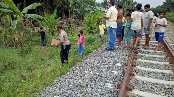 Diduga Tertabrak Kereta Api, Pemuda Ini Ditemukan Tak Sadar Diri Dalam Parit di Sei Bamban