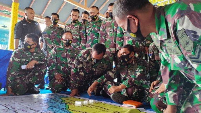 Amankan Pulau Terluar Indonesia, Lanal TBA Lakukan Tactical Floor Game