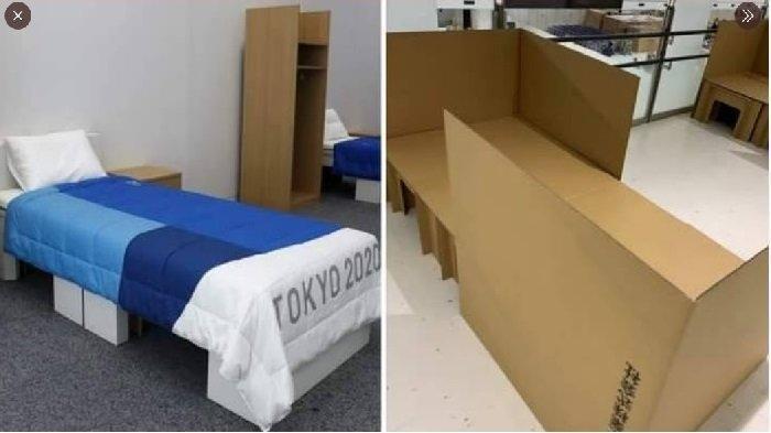 Tempat Tidur Atlet Olimpiade Tokyo Terbuat dari Kardus, Sebagian Peserta BIngung dan Kecewa