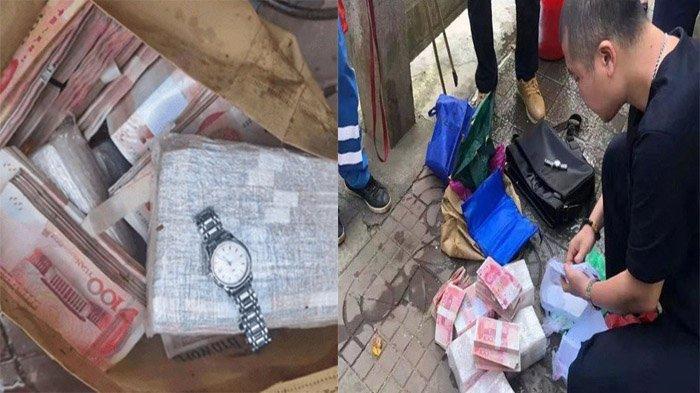 Dikira Sampah, Petugas Kebersihan Temukan Tas Berisi Uang Rp 1,3 M, Netizen Beri Pujian Atas Aksinya