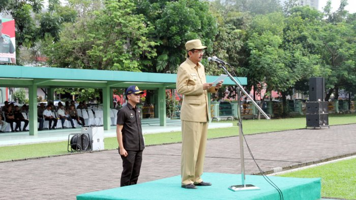 Gubernur Pimpin Apel Gelar Pasukan Operasi Patuh Toba 2017, Ini Wejangannya
