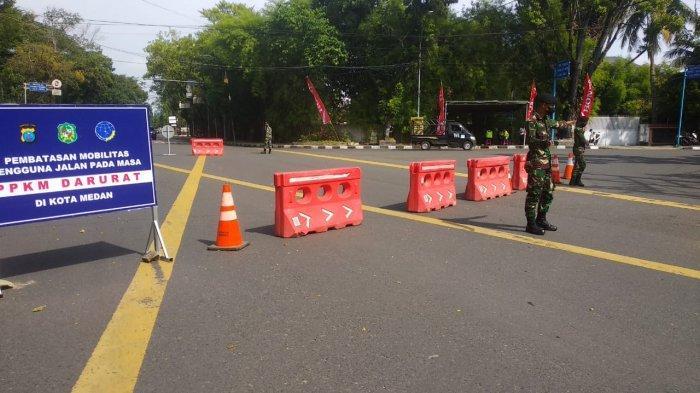 BREAKING NEWS Tentara Blokade Jalan Sudirman di Depan Rumah Dinas Wali Kota Medan