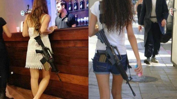 UNIKNYA Tentara Cantik Israel Tenteng Senjata ke Mall, Anggota IDF Bukan Wanita Sembarang