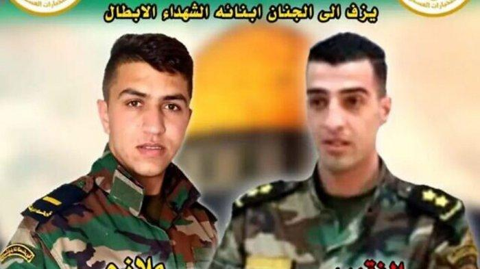 Dua tentara Palestina tewas ditembak tentara Israel: Letnan Adham Aliwi dan Kapten Taysir Issa