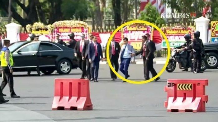 Terekam Kamera Detik-detik Gibran Rakabuming Dicegat Paspampres saat Dekati Presiden Jokowi. (YouTube Tribun Medan)
