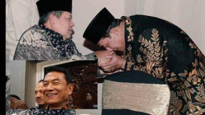 Setuju Jadi Ketum Demokrat via Telepon, Foto Moeldoko Cium Tangan SBY, Tawa Andi Arief: Ketum Bonek