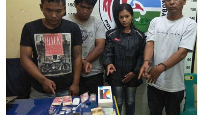 Bandar Sabu Wanita Verani Pardede dan 5 Pria Diciduk Satnarkoba Polres Toba
