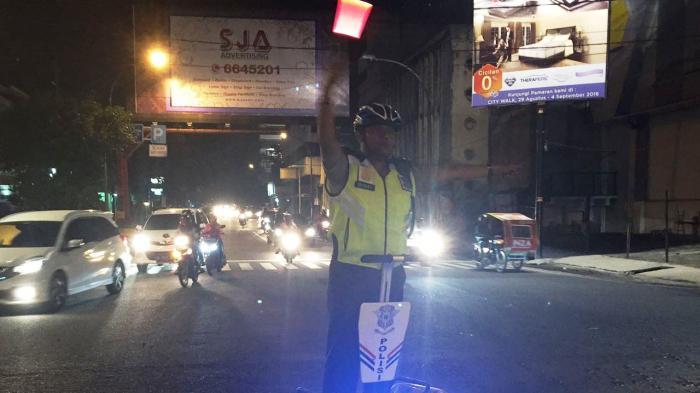 Satlantas Polresta Medan Patroli dengan Segway