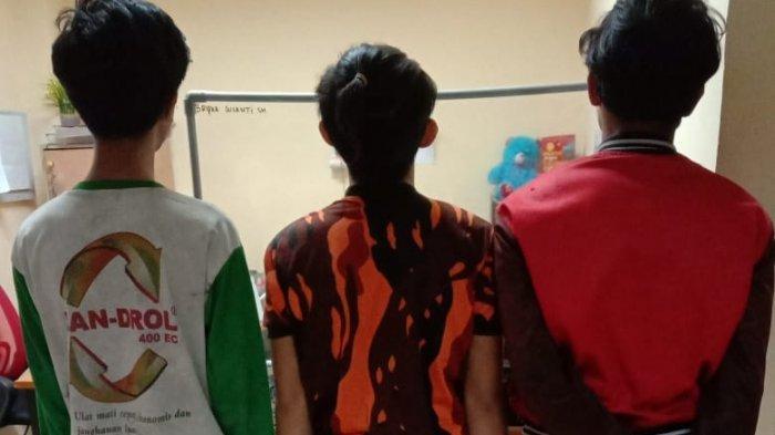 Tiga pemuda bergiliran mencabuli gadis 15 tahun di Desa Limau Manis, Kecamatan Tanjung Morawa, Deliserdang diringkus Polresta Deliserdang.