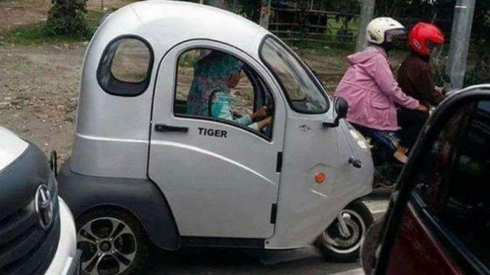 Motor Roda Tiga yang Dikemudikan Perempuan Ini Viral, Ini Spesifikasi dan Harganya