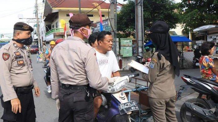 RAZIA Penggunaan Masker di Binjai, Masih Banyak Warga Melanggar Perwa