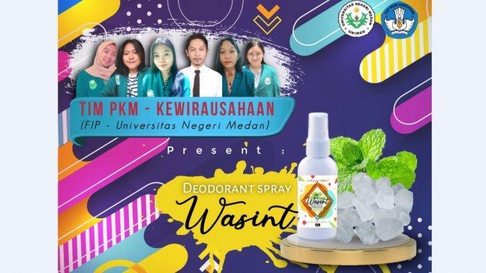 PKM-K Unimed Bikin Deodorant dari Tawas dan Daun Mint, Dibanderol Rp 15 Ribu Per Botol