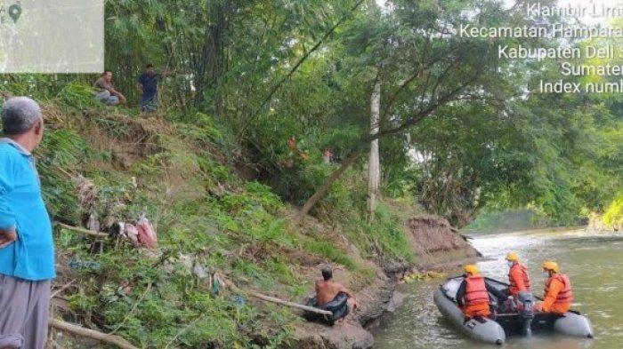 Remaja Zaki Hanyut di Sungai Belawan Tak Kunjung Ketemu, Basarnas Berjibaku Lakukan Penyisiran