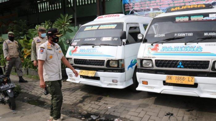 Tak Taat Protokol Kesehatan, Empat KTP Petugas Pool Angkutan Ditahan Satgas Covid-19 Medan