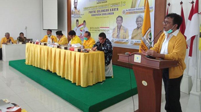 Terpilih Kembali Jadi Ketua Golkar Simalungun, Timbul Ingin Kemenangan Radiapoh-Zonny Waldi