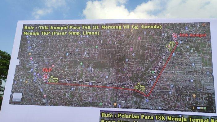 Berikut Titik Kumpul dan Rute Pelarian Perampok Toko Emas di Simpang Limun