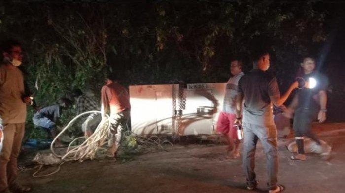 Truk Terbalik di Samosir, 1 Orang Tewas Tertimpa Genset, Lainnya Luka-luka