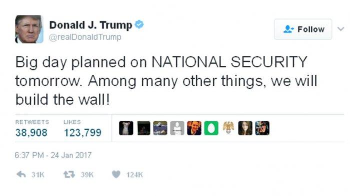 Donald Trump Perintahkan Pembangunan Tembok Perbatasan Meksiko