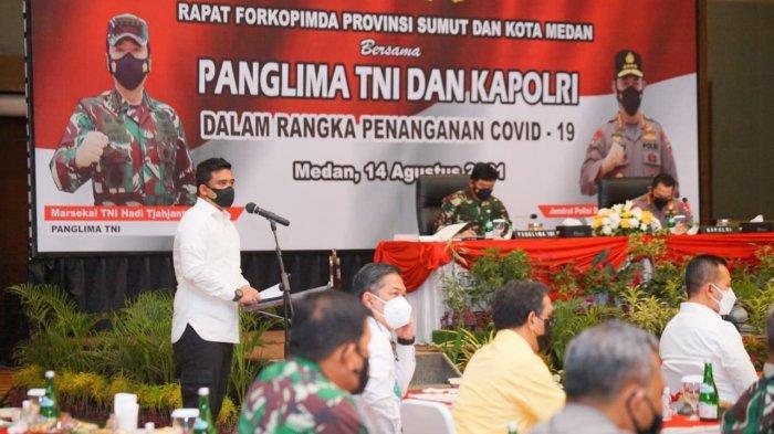 Di Hadapan Panglima TNI - Kapolri, Bobby Nasution Paparkan Strategi Penanganan Covid-19