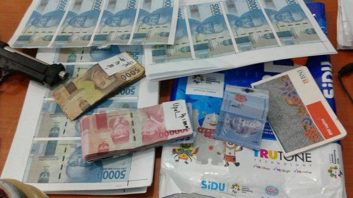 Polsek Patumbak Amankan Dua Pengedar Uang Palsu, Segini Barang Bukti yang Diamankan